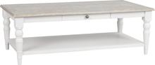 Lorient soffbord gråpigmenterad furu/vitmålad 134 x 74 cm