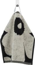 Unikko pyyhe musta hiekanvärinen Mini