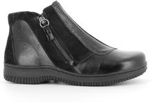 Green Comfort Ankle Boot Zipper Black