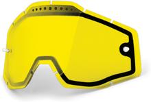 100% Vented Dual Vaihtolinssit, dual yellow / clear 2020 Ajolasitarvikkeet