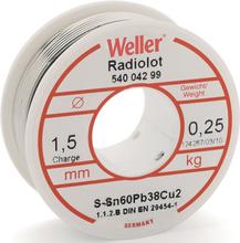 Weller loddetin m/flus, Ø1,5 mm