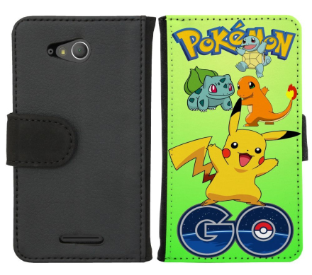 Sony Xperia E4G Plånboksfodral Pokemon Go - CDON.COM