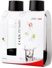 Aqvia Vandflaske PET 500 ml. 2 stk. Black