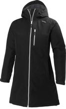 Women's Long Belfast Winter Jacket Musta S