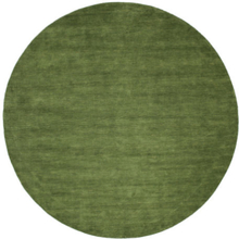 Handloom - Grön matta Ø 100 Modern, Rund Matta