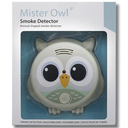Flow - Brandvarnare Mr Owl Ljusgrå