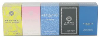 Bright Crystal by Versace - Gift Set The Best of Versace Men's and Women's Miniatures Collection Includes Versace Eros, Versace Pour Homme, Versace Man Eau Fraiche, Bright Crystal, and Versace Yellow Diamond - til kvinder