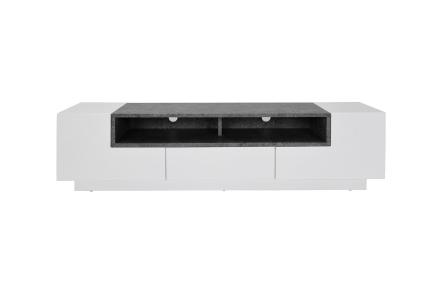 YVETTE Tv-benk 160 Hvit/Sement -
