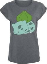 Pokémon - Bisasam -T-skjorte - mørkegrå melert