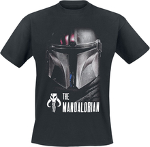 Star Wars - The Mandalorian - Dark Warrior -T-skjorte - svart
