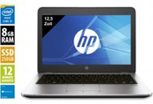 HP Elitebook 820 G3 - 12,5 Zoll - Core i5-6300U @ 2,4 GHz - 8GB RAM - 256GB SSD - WXGA (1366x768) - Win10Home A