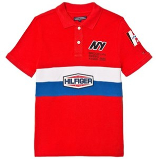 Tommy Hilfiger Red Team Tommy Badge Pique Polo 14 years