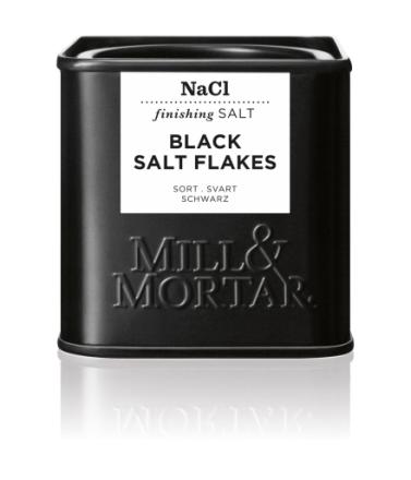 Mill & Mortar Sort Flagesalt 80 g dåse