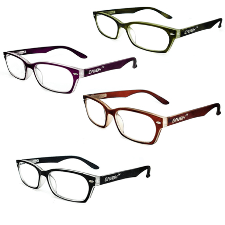 Cavok läsglasögon med grad a lins, flera färger och styrkor