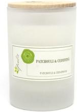Miljövänligt Doftljus Patchouli & Cederträ, Litet (ca. 100 g)