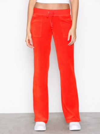 Bukser - Bright Red Juicy Couture Velour Del Rey Pant