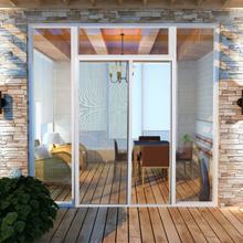 vidaXL Valkoinen Liukuva Hyönteisverho Oveen 120 x 215 cm