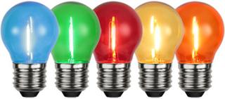 Star Trading partylampor E27 5-pack 4,5 cm, olika färger