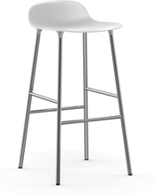 Form baarituoli metallijalat 75 cm valkoinen