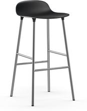 Form baarituoli metallijalat 75 cm musta