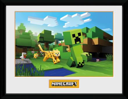 Framed collectors print - Games - Minecraft Ocelot Chase - Merchandise - CDON.COM