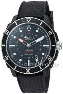 Alpina AL-282LBB4V6 Horological Smartwatch Sort/Gummi Ø44 mm