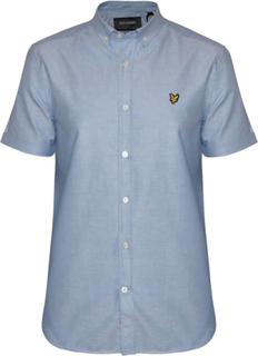 Lyle & Scott Lyle & Scott Riviera blå Kortärmad Oxford skjorta