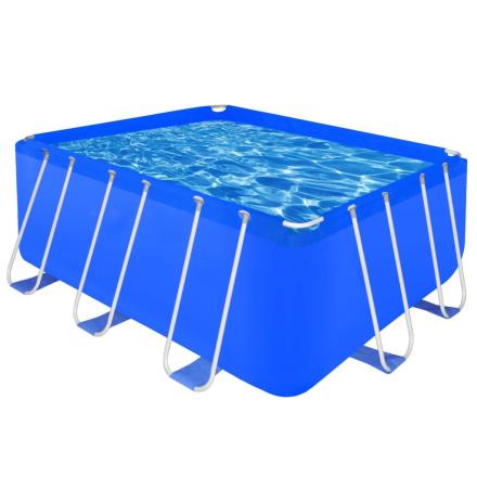 vidaXL 90531 Firkantet badebassin med stålramme 400 x 207 x 122 cm