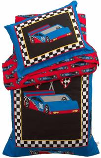KidKraft Bäddset för juniorsäng 4 delar Racerbil 77005