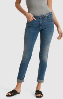 b.young Dame Smarte Lola Luni cowboybukser - Blå
