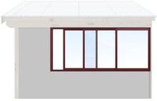 Skjutbara fönster Vår/höst - Isolent Vinröd, 220 cm - 3 luckor, Original Design