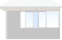 Skjutbara fönster Vår/höst - Isolent Vit, 220 cm - 3 luckor, Original Design