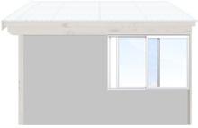 Skjutbara fönster Vår/höst - Isolent Vit, 150 cm - 2 luckor, Original Design