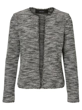 VERO MODA Knitted Open Front Blazer Women Black