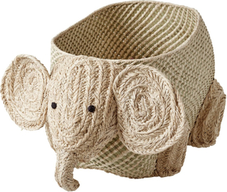 Rice raffia oppbevaringskurv dyr Elefant
