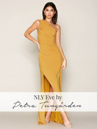 NLY Eve Draped One Shoulder Gown Maxiklänningar Gold