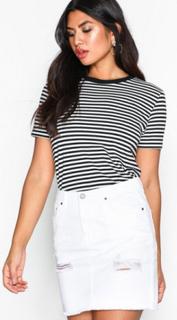 NLY Trend Destroy Mini Denim Skirt Minikjolar Vit