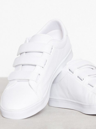 Low Top - Hvit NLY Shoes Velcro Sneaker
