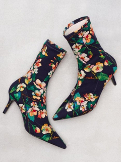 Topshop Mojito Floral Sock Boots High Heel Multi