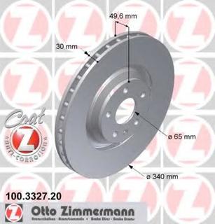 Bremseskive ZIMMERMANN 100.3327.20