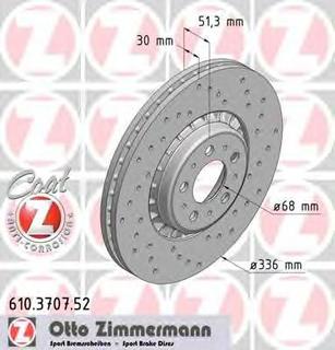 Bremseskive ZIMMERMANN 610.3707.52