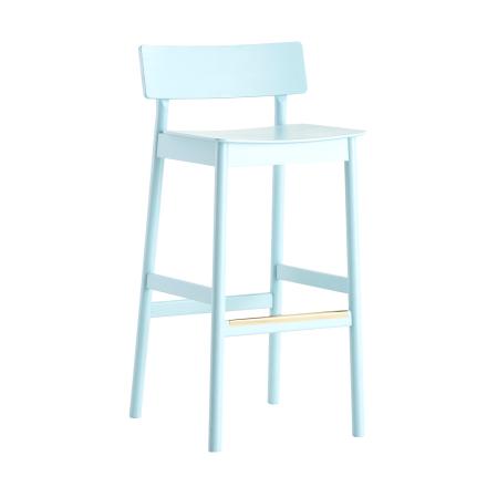 Pause barstol lyseblå malt eik