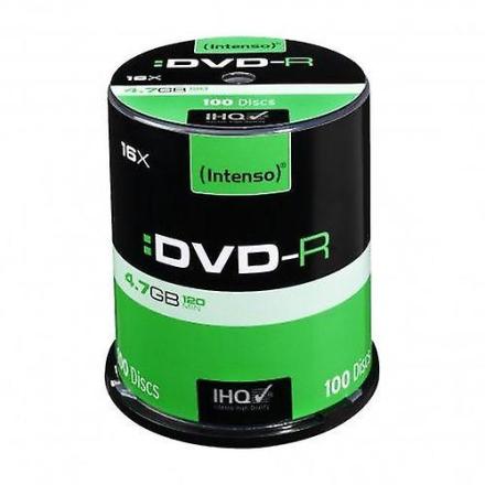 Intenso Dvd-r, 4.7 gb/120 minutter, 16 x hastighed, enkelt lag kage...