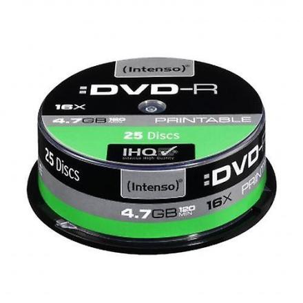 Intenso Dvd-r, 4.7 gb/120 minutter, 16 x hastighed, enkelt lag, Pri...
