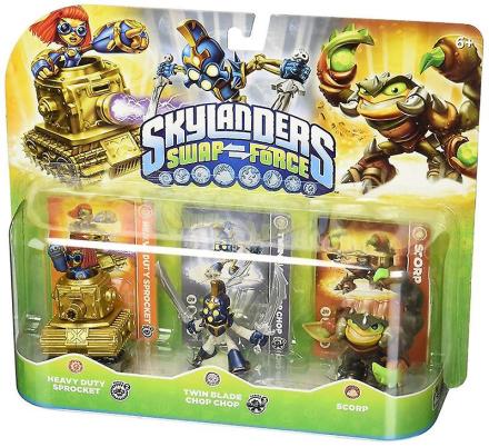 Skylanders bytte Force trippel figur Pack - drivhjul Chop Chop og S...