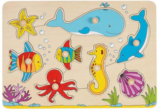 Goki Træpuslespil med havdyr