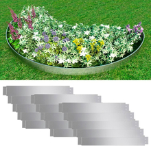 vidaXL Flexibel gräskant 15 st 100 x 15 cm galvaniserat stål