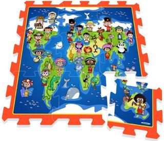 Se dette legegulv med børn og lande