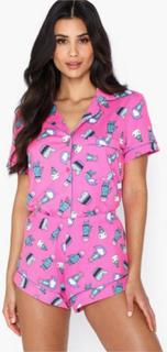 Chelsea Peers Cat Cactus Short PJ Set Pyjamasser & hyggetøj