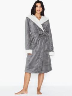 Chelsea Peers Fluffy Grey Dressing Gown